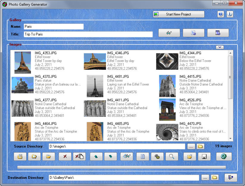 Photo Gallery Generator 2.4 full